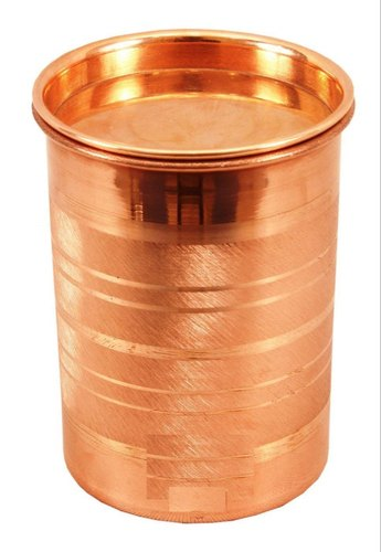 Copper Glass Tumbler With Lid 300 mL for Home