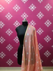 Pistal Shades Bandhej / Bandhani  Dupatta