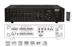 Tza-2000dp Pa Mixer Amplifiers With Digital Player