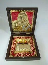 Guruji Gold Plated Photo Frame Box