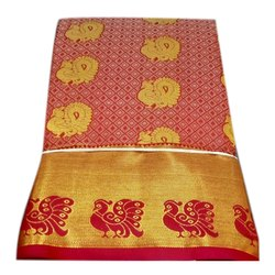 Party Wear Printed Designer Silk Saree, Packaging Type: Plastic Bag, 5.5 m (separate blouse piece)