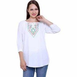 Cotton Casual Ladies Designer Top