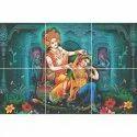 "Radha Krishna Picture Ceramic Tiles, Thickness: 8 - 10 Mm, Size: 6x6"""