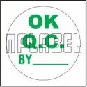 151412 Ok Qc Round Sticker, Packaging Type: Packet, Size: 25mm