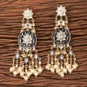 Traditional Indo Western Long Earring With Gold Plating 101225