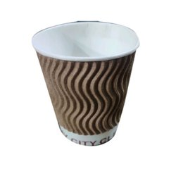 Brown Ripple Paper Cup, Capacity: 150 ML