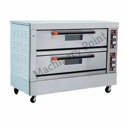 Double Deck Four Tray Deck Oven, 2 Deck 4 Tray Electric Deck Oven
