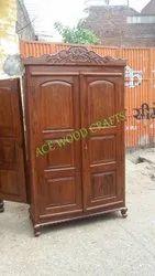 棕色古董木制衣橱,为家,门的数量:2