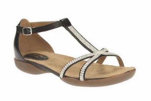 8fa36863 Raffi Star Black Leather Sandal
