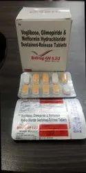Voglibose, Glimepiride and Metformin Hydrochloride Sustained Release Tablets