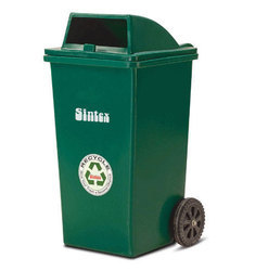 Outdoor Dustbin With Two Wheeled