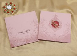 Cardboard Book Style Designer Wedding Invitation Cards in Floral Design Theme, Size: 25.5cm X 25.5cm