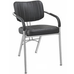 SPS-262 Low Back Visitor Black Leather Chair