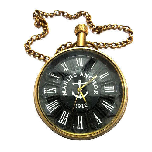 Black & Golden Roman Pocket Watch