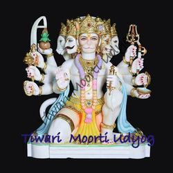 Panchmukh Hanuman Marble Statue