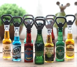Fancy Bottle Opener Fridge Magnet Beer Bottle Shape