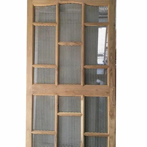 Wooden Mesh Door At Rs 300 Square Feet Mosquito Net Door Id