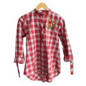 Ladies Checked Embroidered Cotton Top