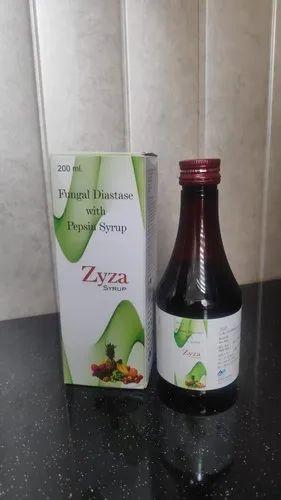Fungal Diastase With Pepsin - Zyza Syrup 200ml