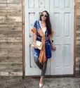Ladies Tie Dye Kimono