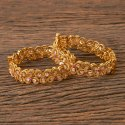 Brass Wedding Wear Gold Plated Antique Openable Classic Bangles 202700