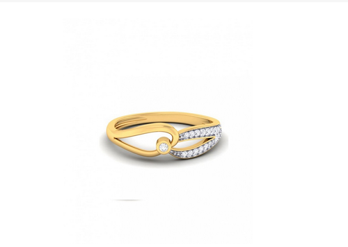 dd3222178 Ornaz Golden Ring In Yellow Gold With Diamonds 100810, Rs 19482 ...