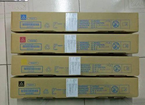 4 Color Genuine Consumables Color : 4 Colors Compatible Konica Minolta TN214 Toner Cartridge for Konica Minolta Bizhub C227 C287 C7528 Color Toner Cartridge
