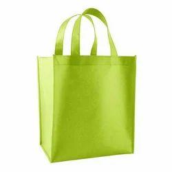 Plain Green Non Woven Handle Bags