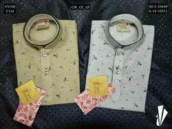 Casual Wear Boys Linen Piping Printed Kurta Pyjama, Size: XS-14, Age: 0-14