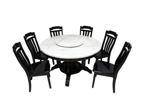 0ee52ca9f6 Wooden 6 Seater Round Dining Table Sets, Rs 104181 /piece, Mobel ...