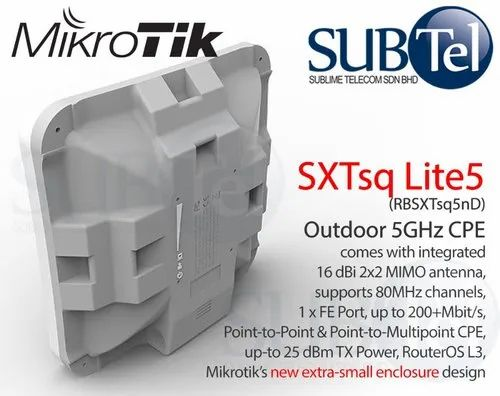 Mikrotik Sq Lite 5 Network High Power Access Point In Nehru Place New Delhi D A Network Solution Id 20984115948