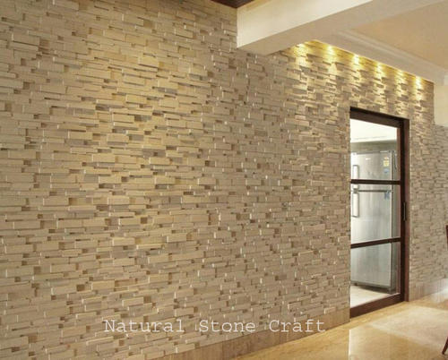 Interior Stone Cladding U003eu003e Interior Stone Wall Cladding Thickness 15 20 Mm  Rs 113 Square
