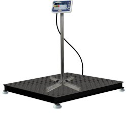 Industrial Heavy-Duty Floor Scale with Barcode Label Printing