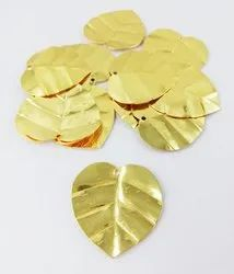 Fancy Heart Shape Gold Plated Charms, Metal Jewelry Findings