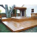 Brown Matte Wood Deck Flooring
