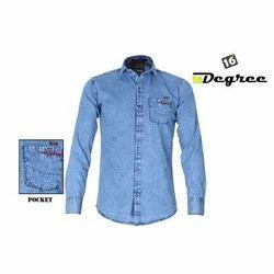 16 Degree Blue Mens Denim Shirt