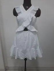 Party Wear Cotton Frill Sort Dress