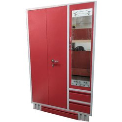 Reyo Stainless Steel Red Almirah, For Home