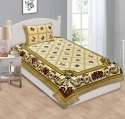 Single Bed Sheet Cotton with Pillow Cover