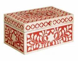 Foliage Bone Inlay Box