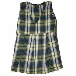 Cotton Girls Checked School Uniform