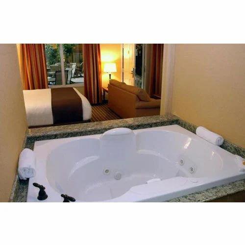 White Acrylic Bathtub With Jacuzzi Jet, Weight:52 Kg, Rs 42000 /unit ...
