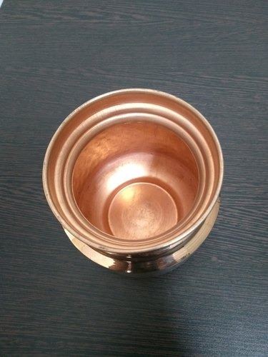 Hammered Copper Water Pot, Size: 5 Inch, Capacity: 500 Ml