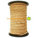 Natural Flat Braided Leather Cords