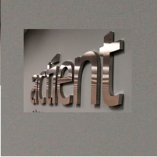 Chrome Stainless Steel Signage