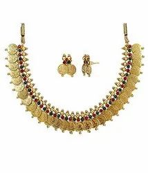 High Gold Plated Laxmi Coin Jewellery Set KA Coin 1000