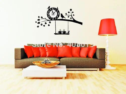diy wall clock 3d sticker home office decor 3d wall clock (covering