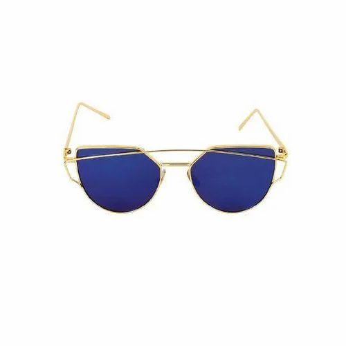 Male Golden Blue Mercury Sun Googles