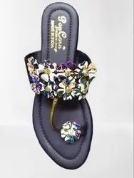 Embroidered Women's Slipper, Size: 5-9