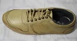 Mens Brown Leather Sneaker Shoes